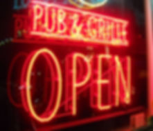 Neon Pub and Grille Open sign  © 2019 Marla Baxter Sanderson