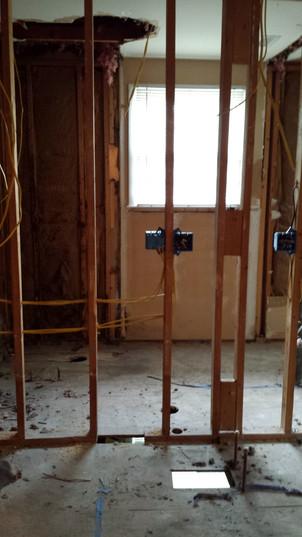 Electrical for both bathrooms. Copyright 2015 Marla Baxter Sanderson - SockOnARooster.com