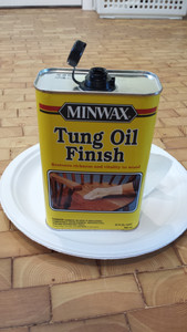 Minwax Tung Oil Finish applied with 00 Steel wool. Copyright 2015 Marla Baxter Sanderson - SockOnARooster.com