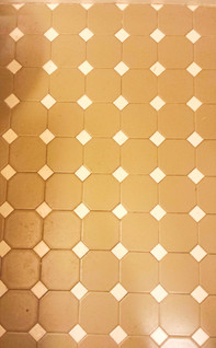 Hall bathroom before. Copyright 2015 Marla Baxter Sanderson - SockOnARooster.com