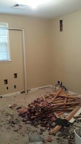 Master bedroom and adjacent bedrooms during renovation. Copyright 2015 Marla Baxter Sanderson - SockOnARooster.com