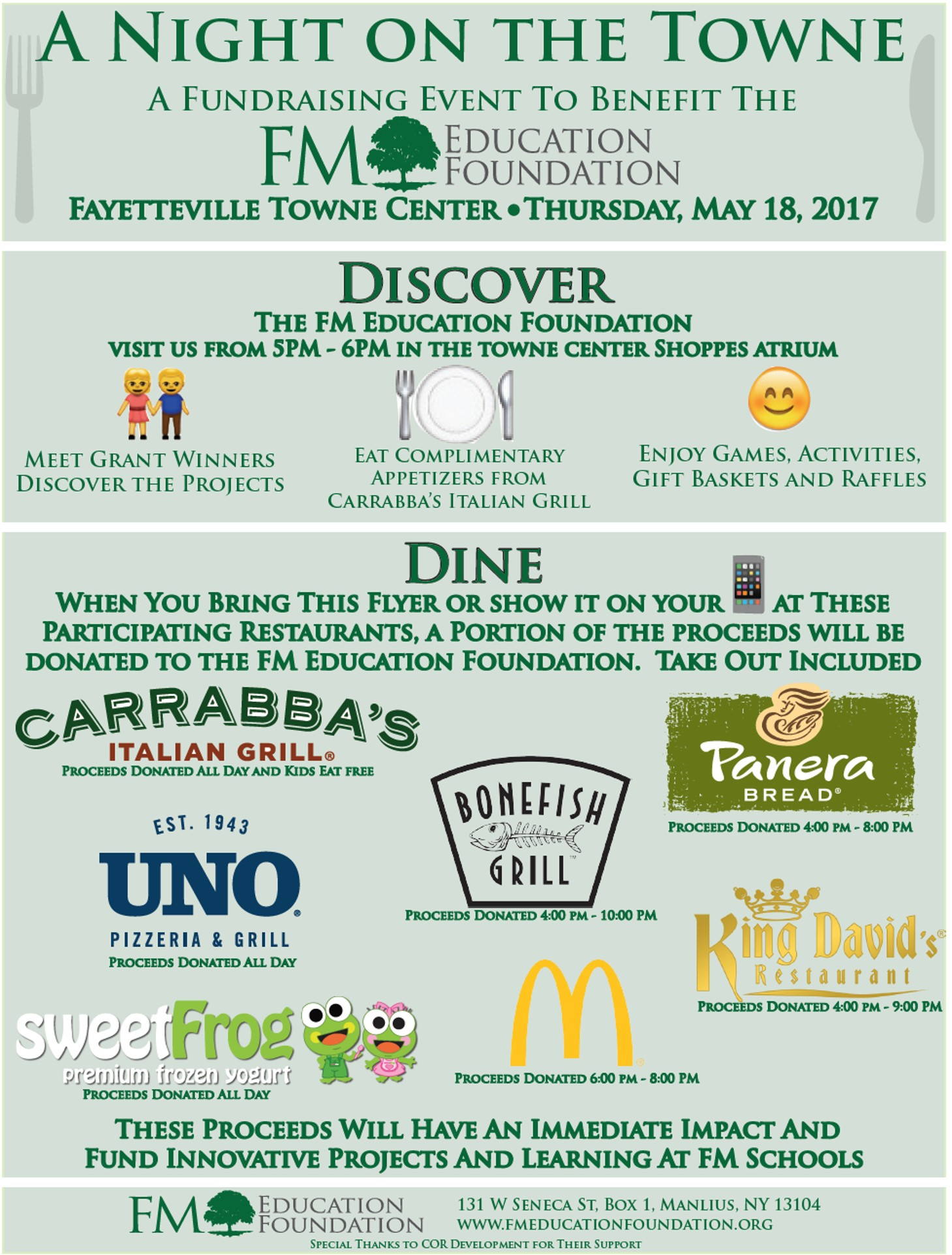 FMEF Night on the Towne 2017