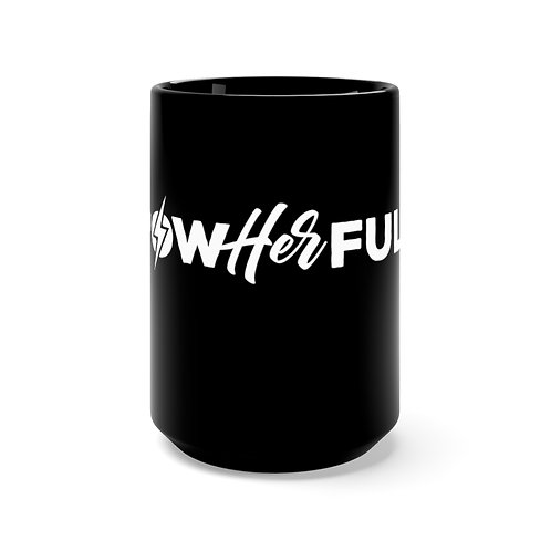 PowerHERful Black Mug 15oz