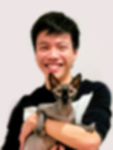 Naked Sphynx cat posing with Sydney Cat Photorapher