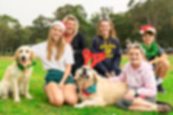 Outdoor Family Portrait with kids and dogs in Lane Cove Park