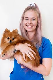 Staff-portrait-Vet-nurse-with-dog