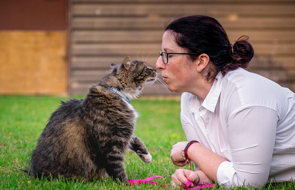 Cat-kissing-human