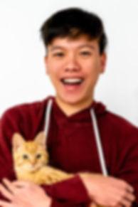 Keefe-Sydney Pet Photographer-with Cat.j