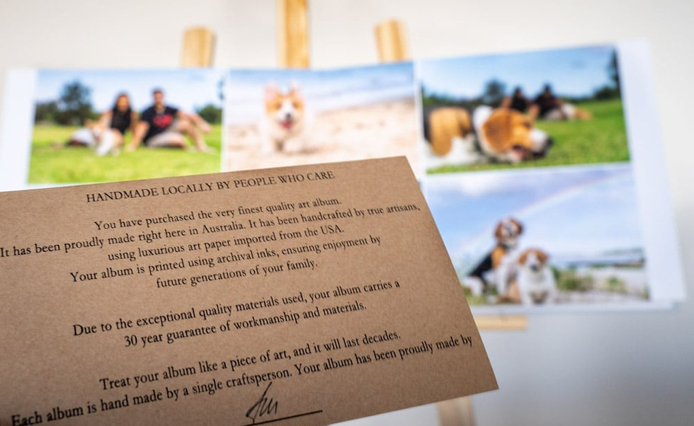 Photo Album from Pet Photographer in Sydney