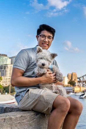 Dog Photo on Sydney Harbour Bridge