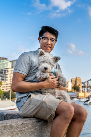 Dog Photo on Sydney Harbour Bridge