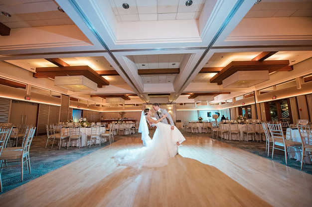 Bride Any Room In The Middle Of Ballroom At Crescent Beach Club Wedding