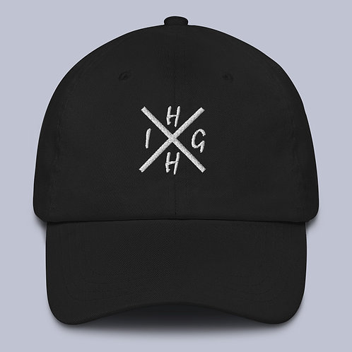 "Black ""HIGH"" Dad hat"