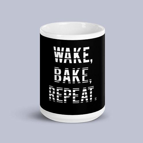 Wake, Bake, Repeat. Mug