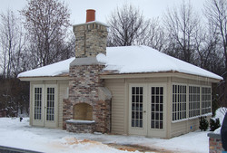 18x24 Custom with fireplace
