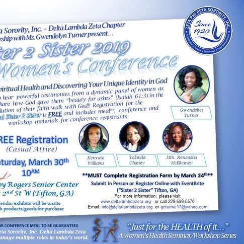 Sister 2 Sister 2019 Butterfly Women's Conference