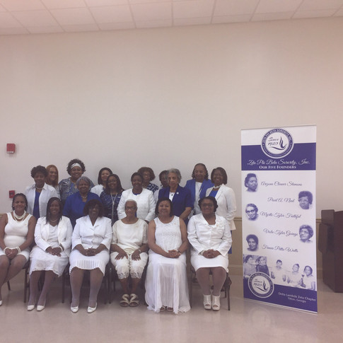 Members of Delta Lambda Zeta with our State Director and lovely Amicae of the Tifton Zeta Amicae Auxiliary