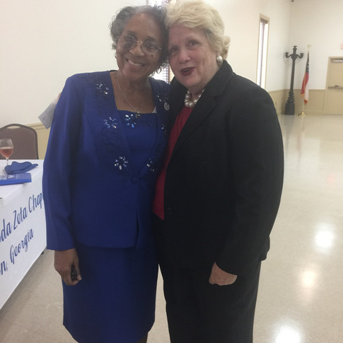 Soror Caroline Day with our Caterer, Ms. BJ Smith (of BJ Smith Events of Tifton, GA)