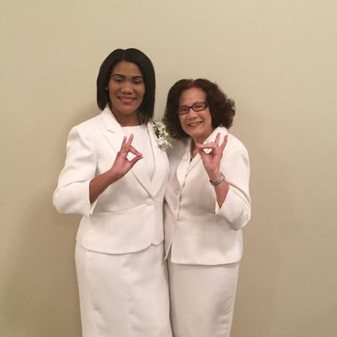Two of our Zeta Lagacies: Sorors Shardae and Sonya Porter