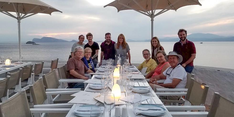 Greek Isles Adventure Sail Trip Planning Dinner