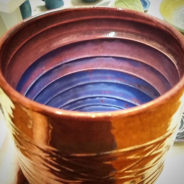 _aandeceramics make functional ceramics using a glorious lustre glaze on the exterior and colour on
