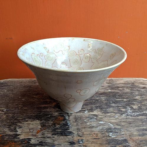 Small Crystalline Glaze Cream/Tan Bowl