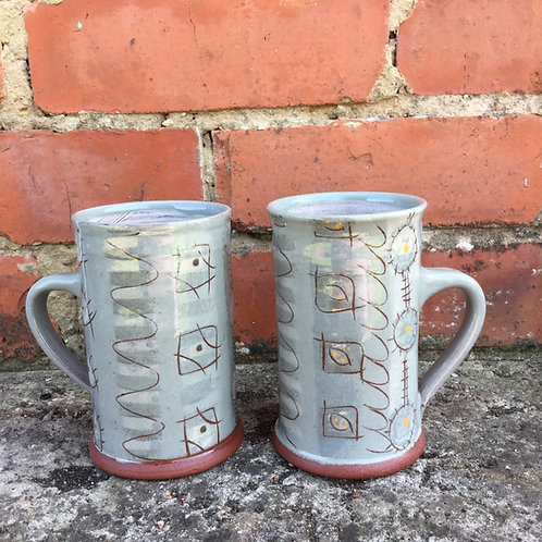 Bridget Williams Retrogrey Large Mug