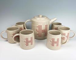 commissioned tea set