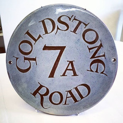 Teana Pottery and Katie Murton Ceramics supply a bespoke service of creating house signs._Pop in sto