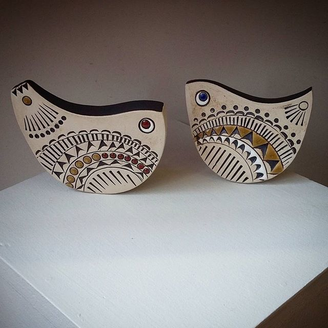 Some beautiful birds by Katie Murton, recently arrived & new work for Katie, inspired by mid Century