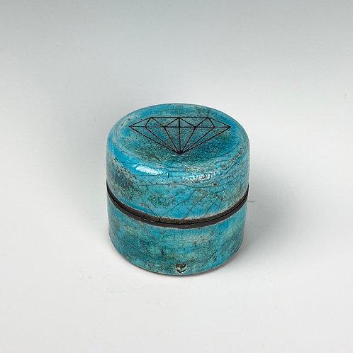 Emma Puddick   Raku Diamond Trinket Boxs