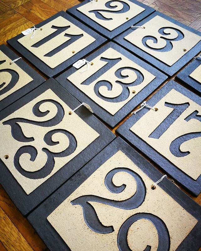 House numbers.... Potters is the _prime_ place to get these ones by Katie Murton Ceramics.__Do you s