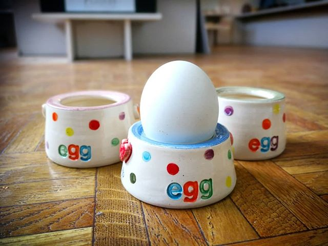 New eggcups in from Bristol maker Yvonne
