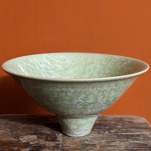 Large Crystalline Glaze Green Bowl
