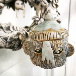 This monster pot with _wooly_ hat lid by