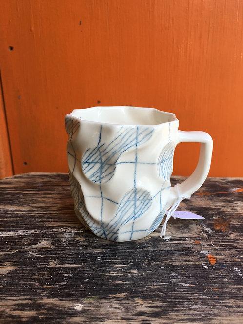 Slipcast Porcelain Small Mugs | Emilia Krankowska