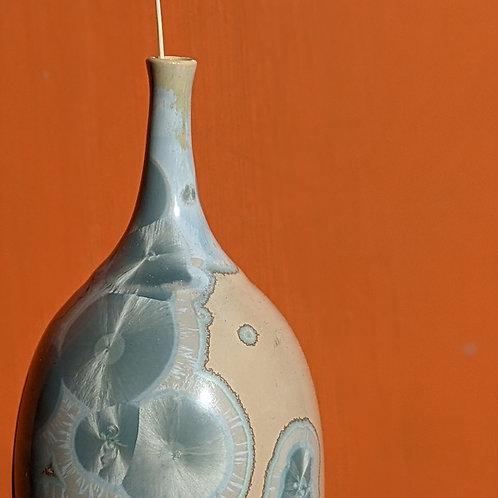 Crystalline Glaze Turq/Tan Bottle
