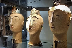 Linda Brogan Ceramics has delivered some new work this week. Absolutely stunning goddess heads,  eac