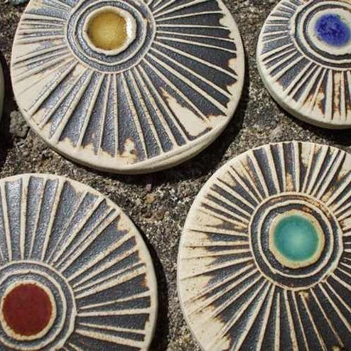 Katie Murton Ceramics makes beautiful brooches, sculptures, mirrors and house plaques._Her work is c