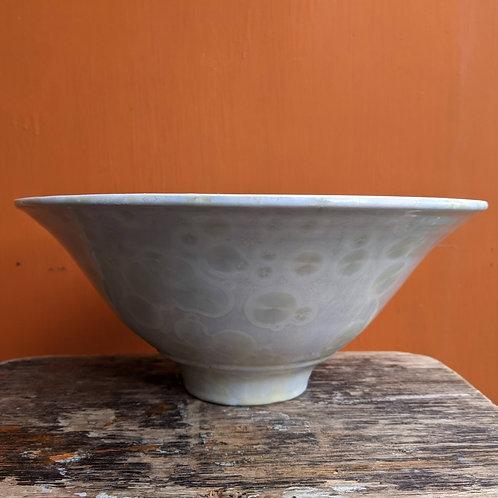 Large Crystalline Glaze Lemon Yellow Bowl