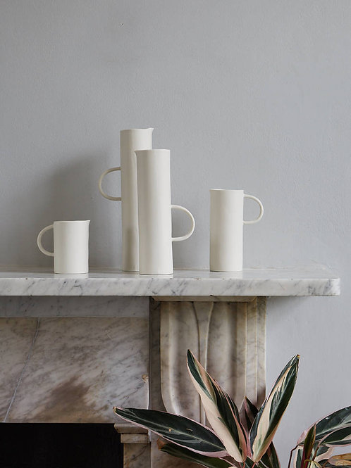 Georgie Scully Cylindrical White Jug