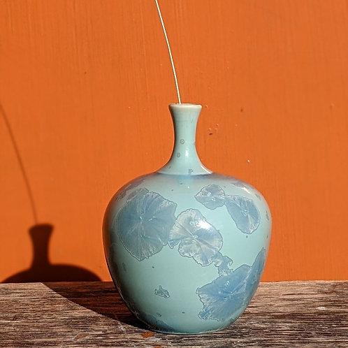 Crystalline Glaze Turquoise Bottle