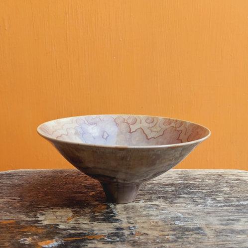 Small Crystalline Glaze Brown Bowl