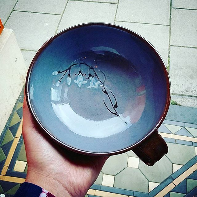 Sean & Vici Casserley make wonderful slipware pieces. _This soup bowl is made from terricotta and de