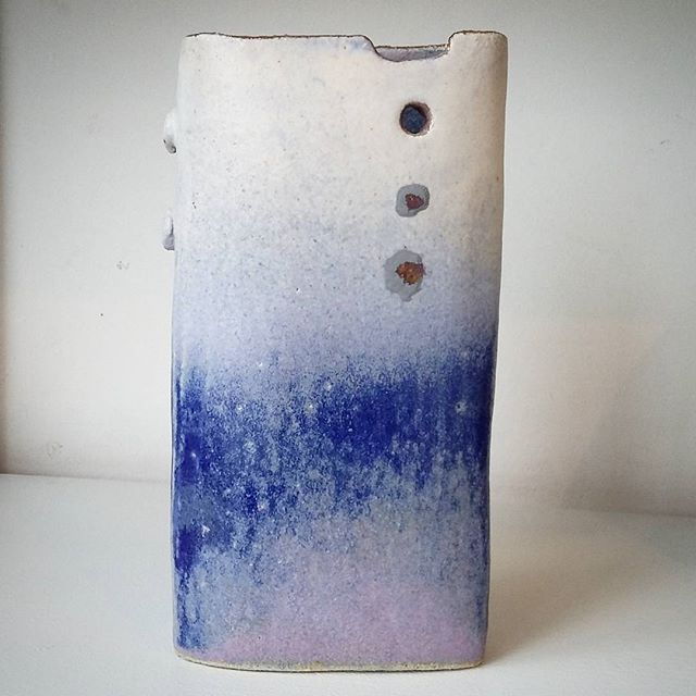 A Jane Gibson Vessel that has hints of the sky today but far more beautiful!_._._