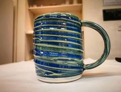 MUGSHOT of one of _aandeceramics mugs. Rich glazes and lots of texture. Say no to boring mugs!_._._