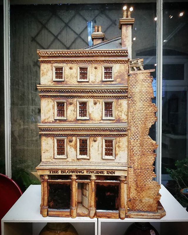 As well as functional items Potters member, Ned Heywood, also makes architectural models