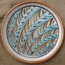 Abstract Feather Platter