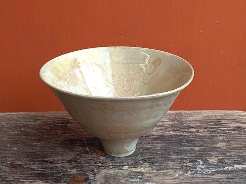 Small Crystalline Glaze Pale Yellow Bowl
