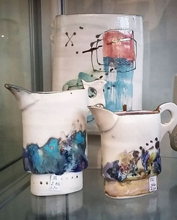 Jane Gibson Ceramics has dropped off new stock. Including these gorgeous jugs. Feeling some ceramic